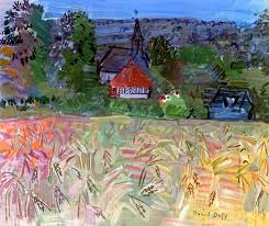 field of wheat in normandy raoul dufy circa 1935 private collection painting oil on canvas height 46 cm in