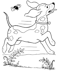 Small Picture Pet Dog Coloring Pages Free Printable Pet Dog And His Bone Color