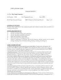 Camp Counselor Resume Summary Skills Objective Job Description