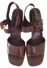brown all leather sandals
