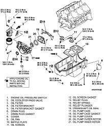 volkswagen truck vanagon wd l mfi ohv cyl repair exploded view of the oil pump oil pan and related components 3 8l engine
