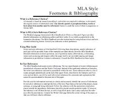 Mla Format Templates Research Paper References Example Style Bibliography Template Free