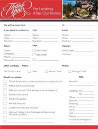 House Sitting Checklist House Sitter Checklist Magdalene Project Org