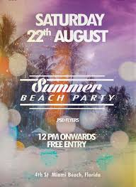 Freepsdflyer | Download Free Summer Beach Party Flyer Psd Template ...