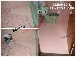 Painting Over Floor Tiles Bathroom. BATHROOM FLOOR TILE-GROUT: I Gently  Cleaned my PINK FLOOR TILE, then I
