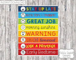 Digital Daily Behavior Chart For Kids Instant Download Consequence Printable Childrens Behavioral Digital Prints Pdf Jpg 8 5x11 Clothespin