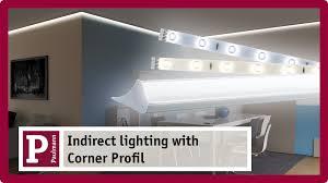 lighting corner. Indirect Lighting: Plaster Mouldings And Cove Lighting With LED Strips Corner Profile