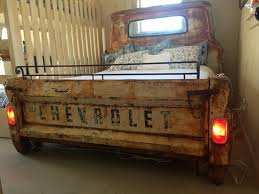 furniture repurposed. a truck bed goes from garage to guest room furniture repurposed