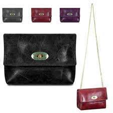 details about las stylish italian leather shoulder bag clasp cross bag handbag mle1009
