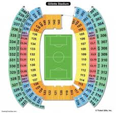 The Amazing Gillette Stadium Seating Chart Seating Chart