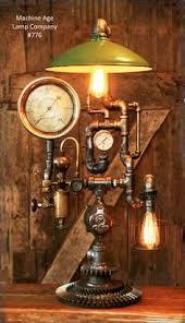 steampunk lighting. Steampunk Industrial, Steam Gauge And Brass Oiler Lamp - #776 SOLD Steampunk Lighting O