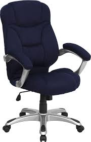 Ebay office desks Cool Trespasaloncom Navy Blue Microfiber Fabric Computer Office Desk Chair Ebay