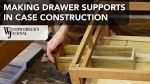 Making Wood Furniture Making Drawer Supports In Furniture Case Construction Youtube