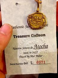 spain 2 escudos from real atocha silver bar shipwreck treasure jewelry coin