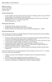Sample Resume For Home Care Nurse Best Of Home Health Nurse Resume Sample Dadajius