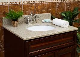 stunning white towel on granite bathroom vanity countertops and bronze faucet plus brown cabinet