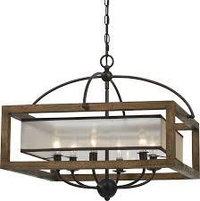 cal fx 3536 6 mission wood chandelier light loading zoom
