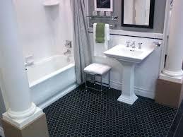 black hex tile octagon floor tile bathrooms hex bathroom floor tile home design image photo under black hex tile