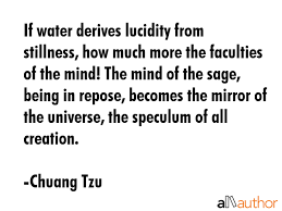 If Water Derives Lucidity From Stillness Quote Amazing Stillness Quotes