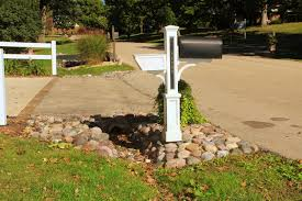 mailbox landscaping with culvert. Modren Culvert Culvert With Natural Stone And Mailbox Intended Landscaping With