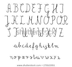 Calligraphy Fonts Vector Alphabet Hand Drawn Stock Vector Royalty