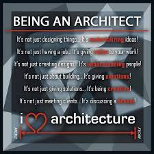 Being an ARCHITECT