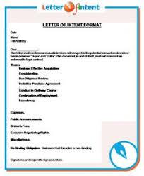 Letter Of Intent Letterofintent On Pinterest