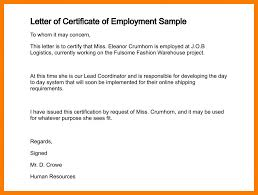 Certificate Of Employment Sample Free Download New Ideas As