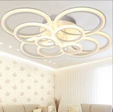 white modern acrylic led ceiling light fixture ring re large