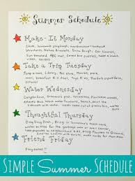 simple summer schedule happy home fairy simple summer schedule
