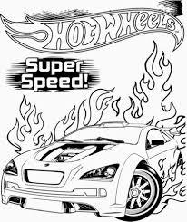 Hot Wheels Super Speed Kleurplaat Gratis Kleurplaten Printen