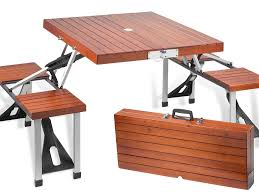 outdoor wood folding table real wooden furniture