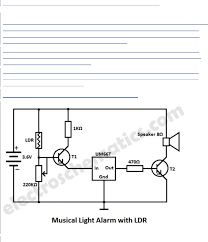 Light Alarm Circuit With Ldr Light Alarm Circuit With Ldr