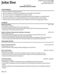 Ideas Collection Network Analyst Resume Sample For Form
