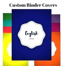 Custom Binder Cover English Binder Cover Clairhelen Co