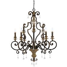 elstead marquette 9 light chandelier bronze