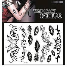 099 Tetování Samolepky Netoxický Vzor Spodní části Zad Vodotěsné Série Zvíře Dospělých černými Papír 1 17 16 Motýl