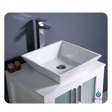 fresca torino 24 white vessel sink vanity
