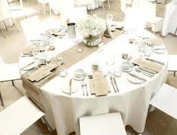 burlap table decor runner for round lovely