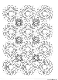 Coloring Pages Print Adult Circles Flowers Coloring Pages Flower