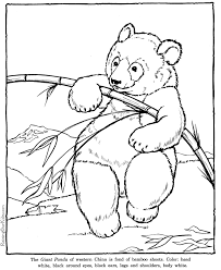 Small Picture Giant Panda coloring pages Zoo animals