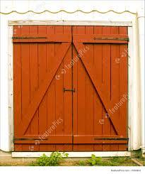 red barn door. Architectural Details: Close Up Of Red Barn Doors Door