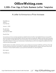 A Letter To Announce A Price Increase We Have Over 3 000 Free