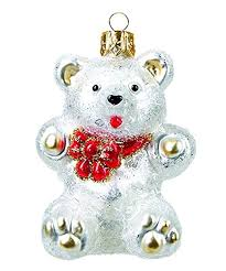 Unbekannt Christbaumschmuck Figuren Tiere Teddybär Weiß 5cm Christbaumkugeln Weihnachtskugeln Weihnachts Baumschmuck Baumkugeln Deko