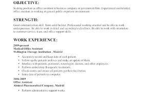 Sample Job Objectives For Resumes Cocinacolibri Com