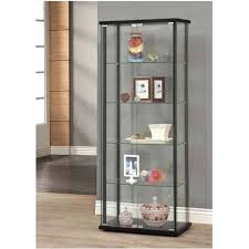 display cabinet with glass doors large curio cabinet black with glass doors display case 5 shelves display cabinet with glass