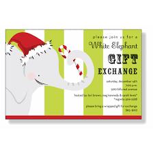 white elephant gift invitation. Plain Elephant White Elephant Invitations With Gift Invitation H