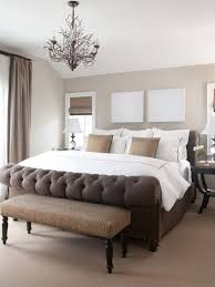 appealing master bedroom makeover ideas with unique chandelier and white bedding set
