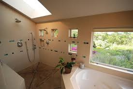 master shower open air bathroom portland