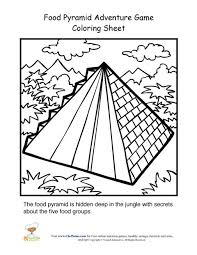 Food Pyramid Adventure Game Coloring Page For Kids